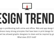 Innovative Design Trends for 2015 – Infographic