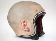 Creepy Human Head Motorcycle Helmets
