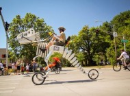 Giant T-Rex Skeleton Bike Lets You Ride a Dinosaur on the Streets