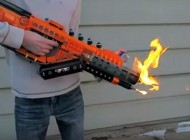 Guy Builds Functional Call Of Duty Flamethrower With 1,200 LEGO Bricks