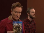 Watch: Conan O'Brien Play Far Cry Primal With PewDiePie